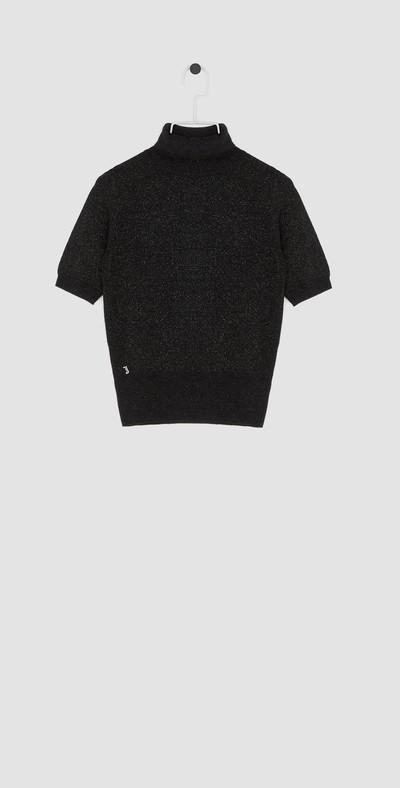 Black laminated turtleneck