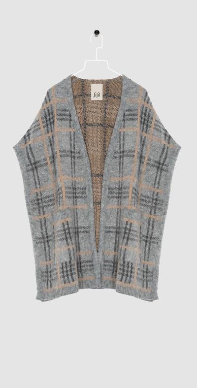 checked long waistcoat