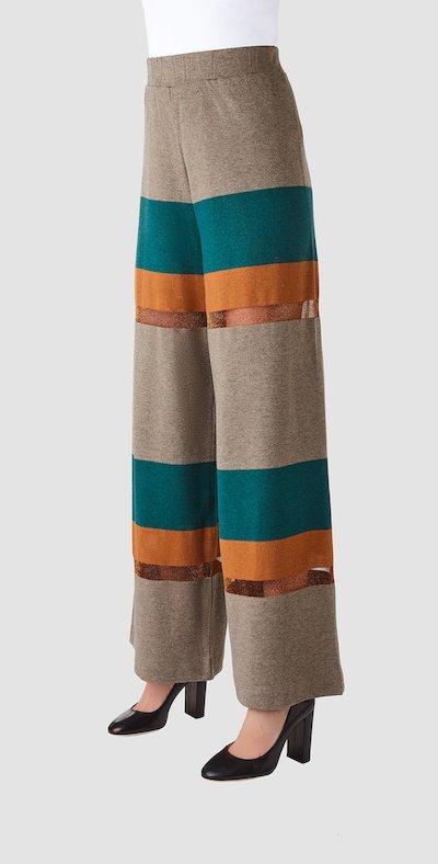 Pantaloni con fasce colorate