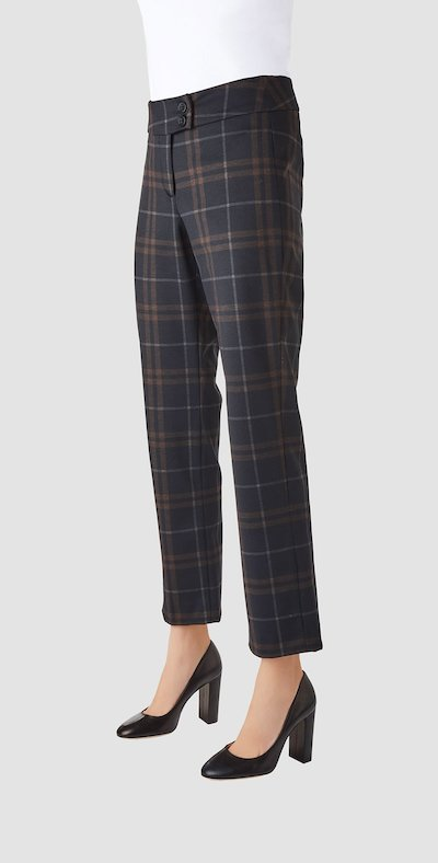 Moro checked trousers