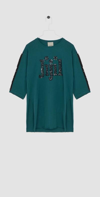 T-shirt con spacchi laterali