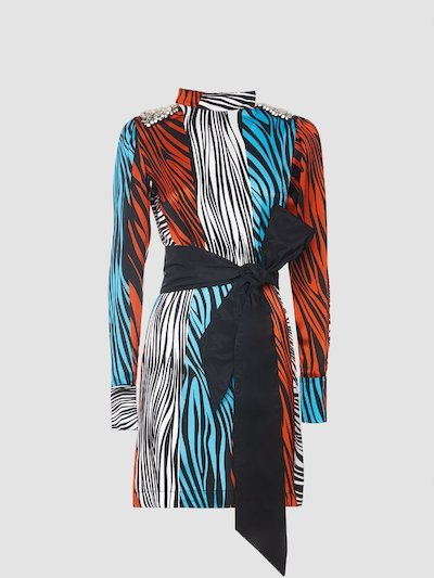 Dress with zebra pattern