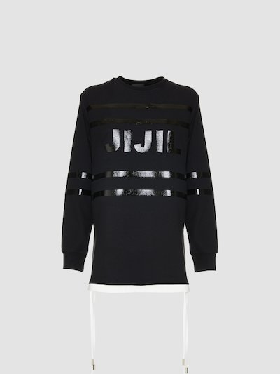 Sweatshirt with Jijil logo print