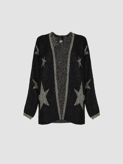 Cardigan with stars decoration