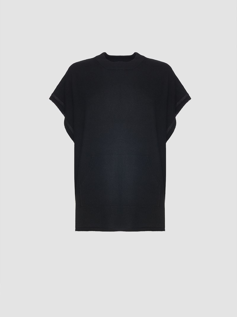 Total black jersey with splits