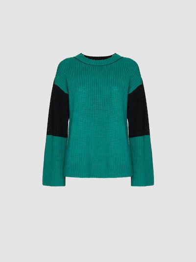 Oversize double color pullover