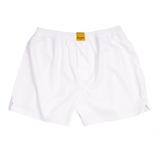 SOLID WHITE BOXER SHORTS