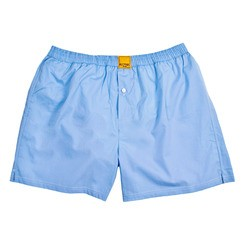 SOLID LIGHT BLUE BOXER SHORTS