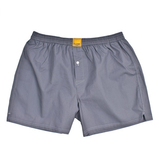 SOLID GREY BOXER SHORTS