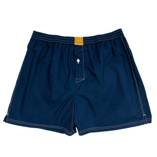 SOLID DARK BLUE BOXER SHORTS