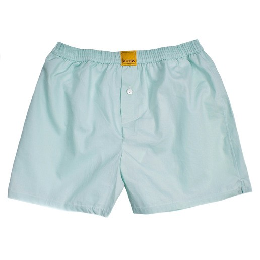 SOLID LIGHT TEAL BOXER SHORTS