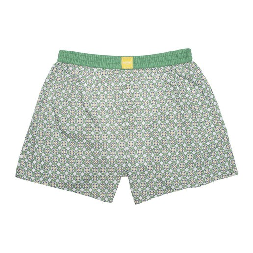 GREEN TILE BOXER SHORTS