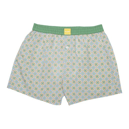 YELLOW TILE BOXER SHORTS