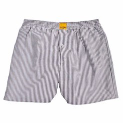 GREY MULTI-STRIPED BOXER SHORTS