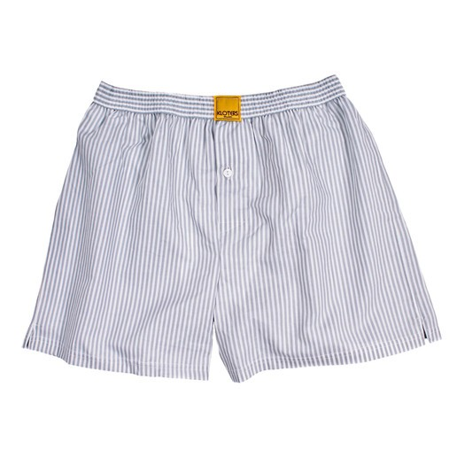 GREY STRIPED BOXER SHORTS