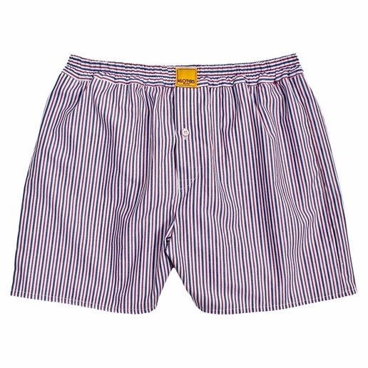 RED AND BLUE STRIPED BOXER SHORTS