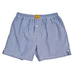 MULTI-STRIPED BLUE BOXER SHORTS