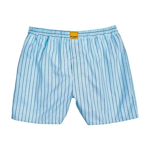 BLUE STRIPED ON LIGHT BLUE BACKGROUND BOXER SHORTS