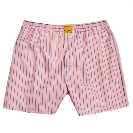 BLUE STRIPED ON PEACH BACKGROUND BOXER SHORTS