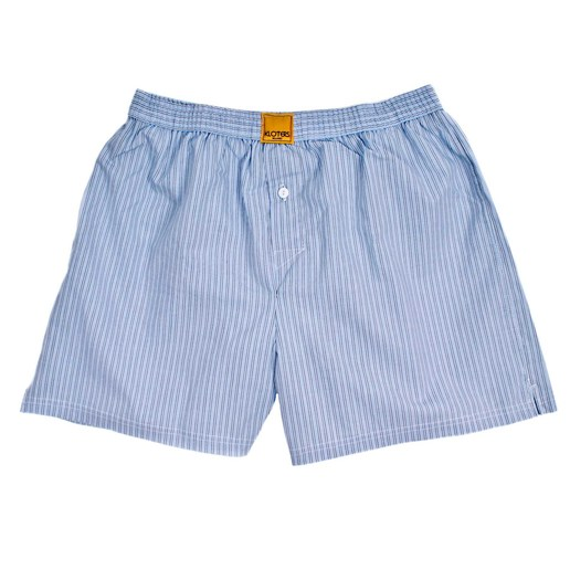 MULTI-STRIPED BLUE AND GREY BOXER SHORTS