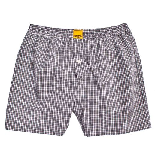 GREY MULTI-CHECKED BOXER SHORTS