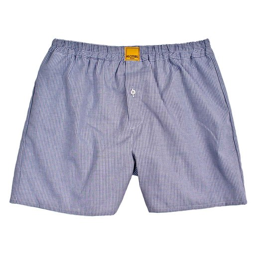 MICRO BLUE CHECKED BOXER SHORTS
