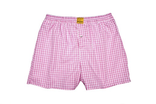 CHECKED PINK BOXER SHORTS