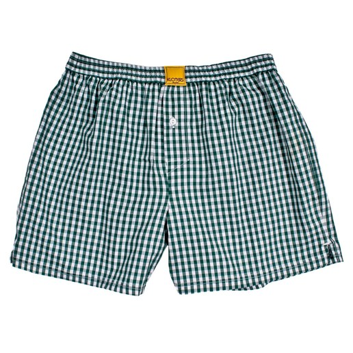CHECKED DARK GREEN BOXER SHORTS