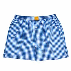 CHECKED LIGHT BLUE BOXER SHORTS