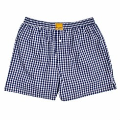 CHECKED BLUE BOXER SHORTS