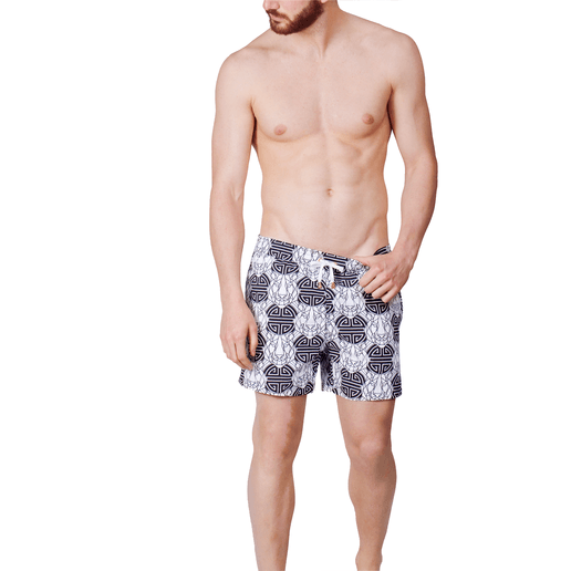 SWIMSHORTS BLACK AND WHITE TIGER