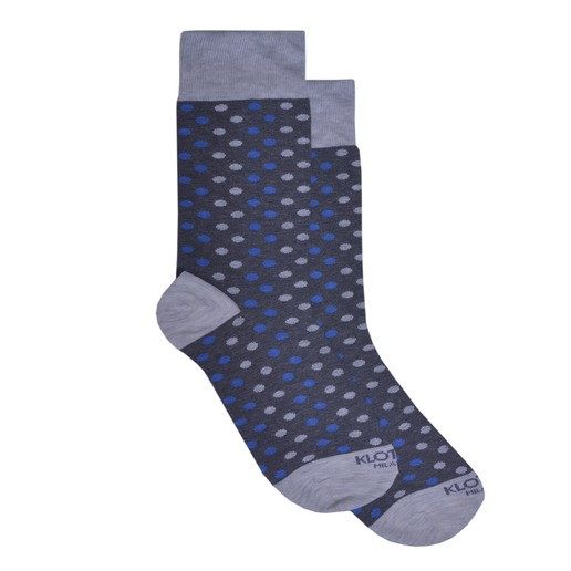 BEIGE POLKA DOTS GREY SOCKS