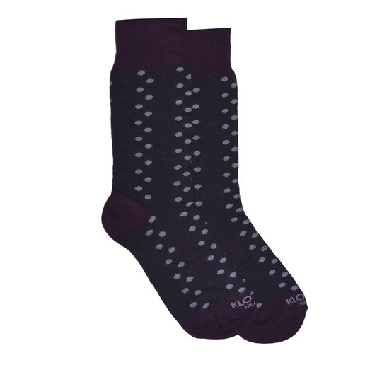 BORDEAUX POLKA DOTS SOCKS