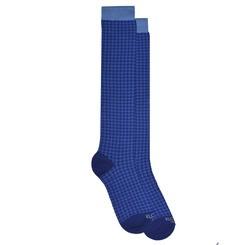 HOUNDSTOOTH BLUE SOCKS