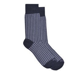 HOUNDSTOOTH PEARL GREY AND GREY SOCKS