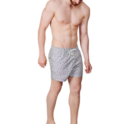 GREEN CACTUSES SWIM SHORTS