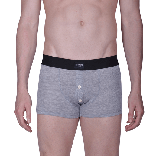 HEATHER GREY BOXER  BRIEFS WITH BUTTONS