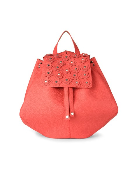 Orciani SOFT FLOWER LEATHER BACKPACK