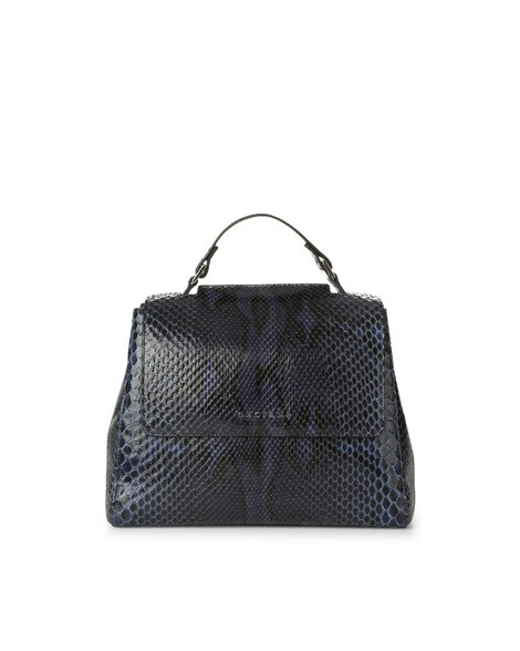 Orciani DIAMOND PYTHON SMALL SVEVA BAG WITH STRAP