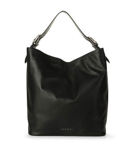 Orciani DRAGON LEATHER BUCKET BAG