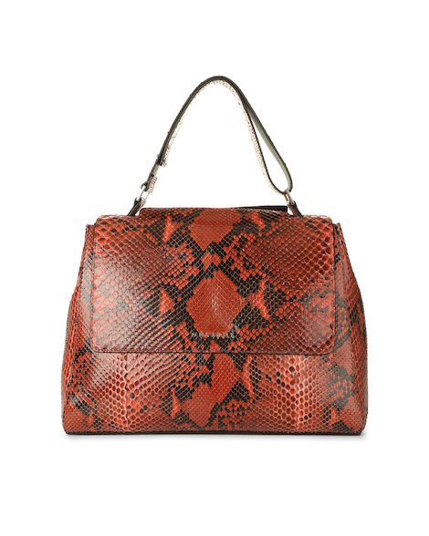 Orciani DIAMOND PYTHON LEATHER MEDIUM SVEVA BAG