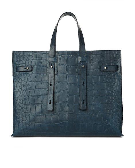 Orciani KENYA EMBOSSED LEATHER PETRA BAG