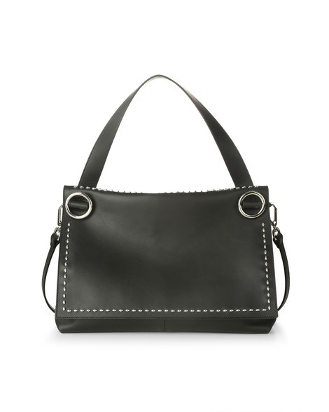 Orciani CHIFFON LEATHER SHOULDER BAG
