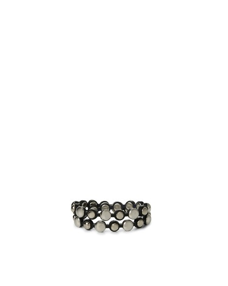 Orciani BULL MICRO STUDDED LEATHER TWIN BRACELET