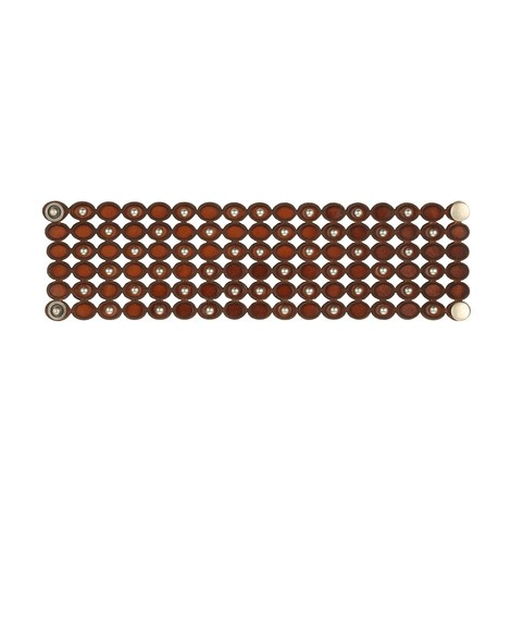 Orciani STAIN MICRO STUDDED TALL LEATHER BRACELET