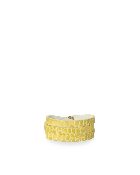 Orciani COCCO CROCODILE EMBOSSED LEATHER BRACELET