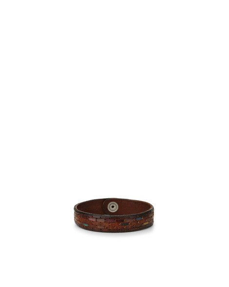 Orciani BRICK COLOR LEATHER BRACELET