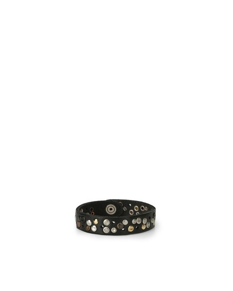 Orciani HUNTING UP MICRO STUDDED LEATHER BRACELET