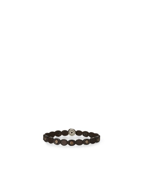 Orciani STAIN MICRO STUDDED LEATHER BRACELET
