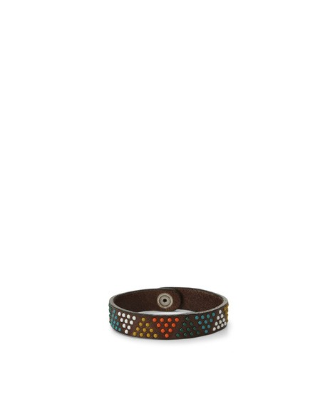Orciani SIOUX MICRO STUDDED LEATHER BRACELET